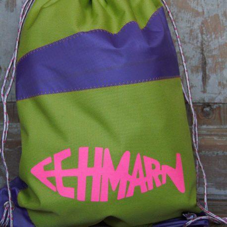 Rückenflosse, grün/lila/neonpink